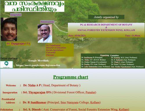 World Environment Day Webinar -Department of Botany