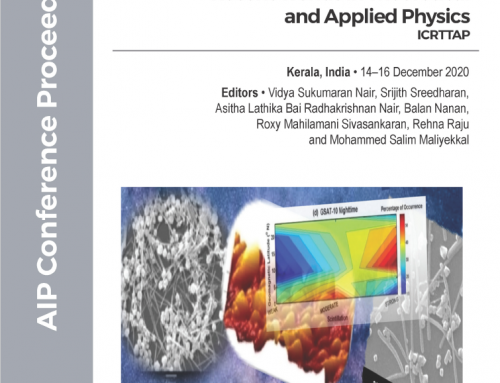 Proceedings of International Conference on Recent Trends in Theoretical and Applied Physics now published online in AIP CONFERENCE PROCEEDINGS, JULY 2021.