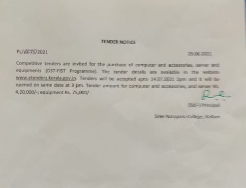 Competitive tenders are invited for the purchase of computer and accessories, server and equipments (DST-FIST Programme)