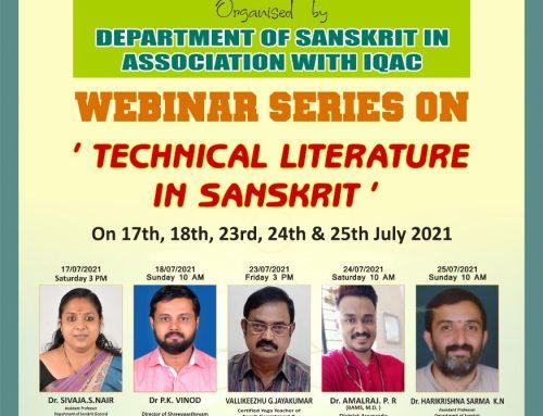 "Webinar series on ""Technical literature in Sanskrit"""