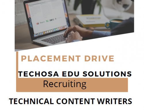 Placement drive for technical content writers