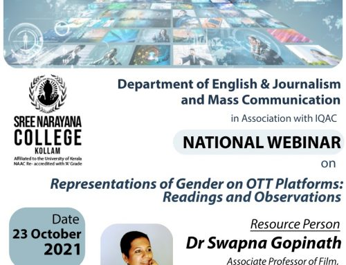 National webinar: Representations of Gender on OTT Platforms: Readings and Observations