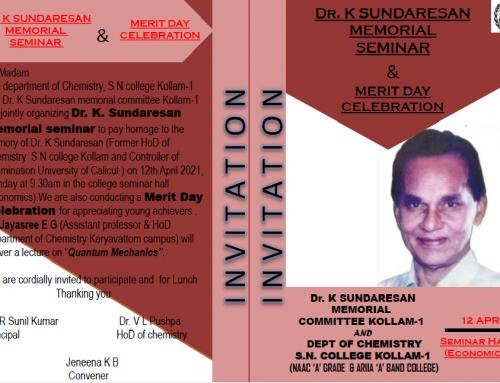 Dr. K. Sundaresan Memorial Seminar_2021